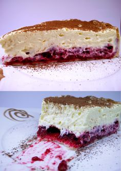 tiramisu with raspberries
