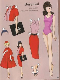 Barbie paper dolls: