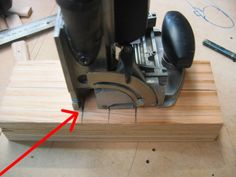 This part of the Domino (red line) is the marking for the exact centre of the mortise