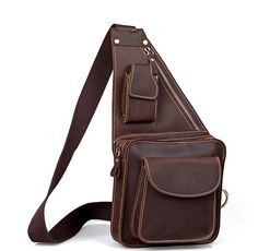 Herren kleine Leder Messenger Bag Crossbody von Mariabagbagworld, $59.00