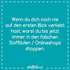 Glaubst du an die (Stoff)-Liebe auf den ersten Blick? Patch Quilt, Patches, Sewing, Quotes, Scrappy Quilts, Facts, Funny Stuff, Scraps Quilt, Quotations