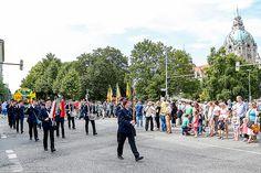 485. Schützenfest in Hannover Schützenausmarsch am 06.07.2014 2. Zug Rote Standarte