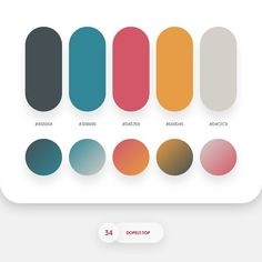 'Summer in the Tropics' vibes with this gradient color palette. Flat Color Palette, Colour Pallette, Colour Schemes, Color Combos, Color Patterns, Ui Color, Colour Board, Gradient Color, Web Design