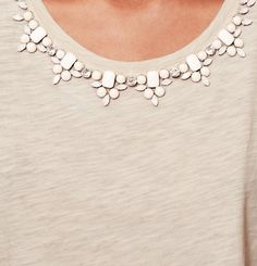 Neutral Stone Necklace Tee | Loft