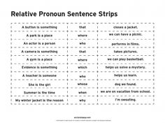 Relative Pronouns                                                                                                                                                                                 More