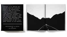A book of journal entries and photographs for your inspiration.