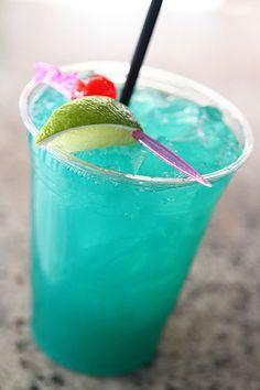 Rio cocktail- Green Iguana.  This tasty concoction boasts Cruzan Light Rum, Blue Curacao and pineapple juice.
