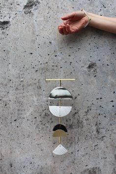 Image of Brass + Clay Wall Hanging No 1