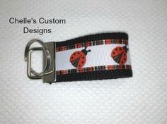 Lady Bug key chain key fob.  3 sizes to by ChellesCustomDesigns, $3.50