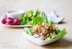 Paleo Ranch Dressing + Buffalo Chicken Salad