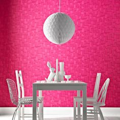 Behang Checker Hot Pink van Superfresco Easy - Mooiste behang 2012
