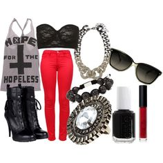 Hope For The Hopeless, created by oh-hai-ashlei on Polyvore. Love this, minus the jewelry.