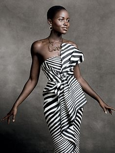 She is so elegant and classy. Best Actress in a Supporting Role, 12 Years a Slave. in Photographed by Christian MacDonald, Vogue, January 2014 Look Fashion, High Fashion, Womens Fashion, Fashion Design, Daily Fashion, Fashion Idol, Fashion Shoot, Black Is Beautiful, Gorgeous Women