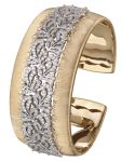 Buccellati Dream Cuff Bracelet in yellow and white gold with diamonds