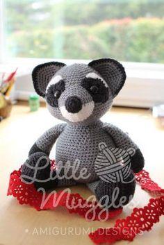 Amigurumi Pattern - Bandit the Raccoon   Craftsy