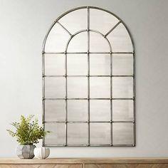 "$394 Uttermost Barwell Silver 29 1/2"" x 44 1/4"" Arch Mirror"