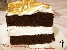 Chocolate cake with marshmallow filling!!! Dukan!