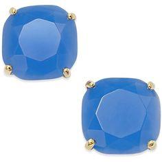 kate spade new york Square Stud Earrings ($38) ❤ liked on Polyvore featuring jewelry, earrings, stud earrings, blue, ocean blue, tri color earrings, kate spade, colorful earrings, kate spade jewelry and blue stud earrings