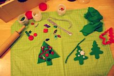 Montessori Christmas Activities for Toddlers - Play Dough Christmas Tree Tray Montessori Trays, Montessori Toddler, Montessori Activities, Toddler Play, Infant Activities, Craft Activities, Christmas Activities For Toddlers, Christmas Crafts, Christmas Tree