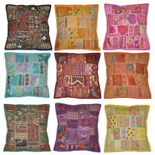 Indian Cushion Cover Embroidery Patchwork Pillow Covers Throw 16 X 16 20pcs Lot