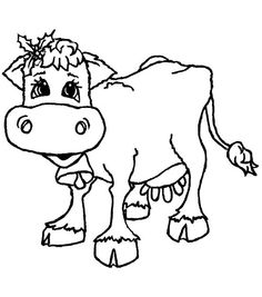 """Inky Antics Mounted Rubber Stamps-Standing Christmas Cow 2-1/2""""X2-3/4"""""""