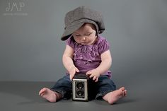 I have this EXACT camera!!! Would do without the hat tho but another great idea for baby Ewho.