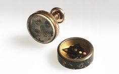 American servicemen going into harm's way had a variety of ingenious places to hide small, even miniature, compasses for escape and evasion – in combs or razors, uniform buttons or, as seen here, in cufflinks