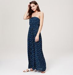 LOFT Beach Oceanic Strapless Maxi Dress | Loft