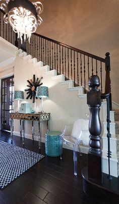 Designing any room scheme with white, brown, and baby blue is a well played move!!! Can't go wrong!!!
