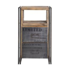 Комод из массива тика Ferum 2 ящика  металлическим каркасом http://www.teakhouse.ru/ru/mebel/komody/komod_ferum_2_yashchika_polka/