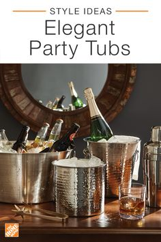 Perfect for entertaining, these elegant party tubs are great for hosting guests in style. Set up for your next cocktail party or dinner using tubs that can complement everything from sophisticated decor to laid-back and modern pieces. Click to see more chic serving and storage options.