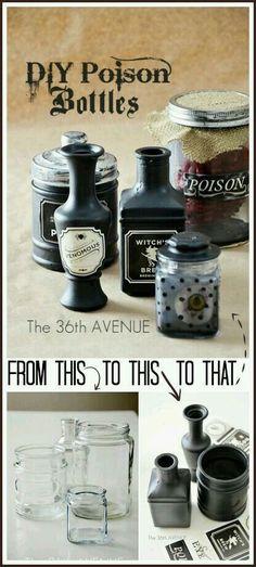 Poison bottles tutorial