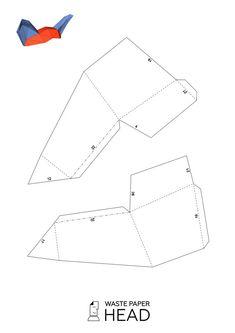 Papercraft fox ears printable DIY template by WastePaperHead