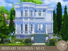 A victorian house with a big garden. It has: Found in TSR Category 'Sims 4 Residential Lots'