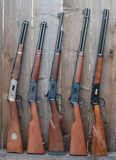 Old wild west rifles