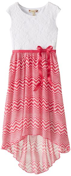 Amazon.com: Speechless Big Girls' High Low Maxi Dress with Ribbon: Clothing
