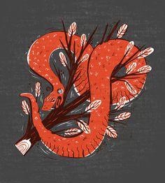 Symbol Snake Art Print