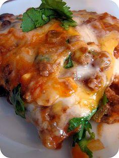 Cheesy Enchilada Casserole