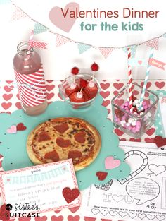 Don't leave the kids out this year - plan a simple but fun Valentines Day dinner just for them! Get all the printables you need for decor, invites, games, etc! from www.sisterssuitcaseblog.com