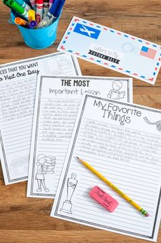 Letters to My Future Self-This is a great way to encourage reflective thinking and goal setting! You could use this as a type of time capsule or end of the year activity!