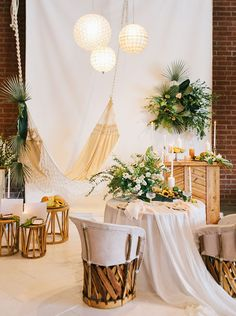 Boho vignette from The Cream with a fringe hammock