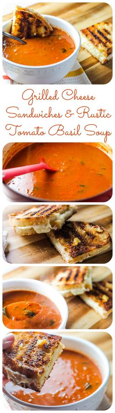 Simple, delicious comfort food--I really can't even imagine a better grilled cheese or a better tomato soup.