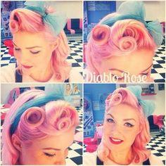 Cute pink pinup hair