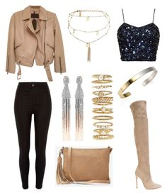 """Untitled #127"" by fashionstyleideas4now on Polyvore featuring River Island, AllSaints, Stephanie Kantis, Gianni Renzi, Express, Ettika, Oscar de la Renta and Forever 21"