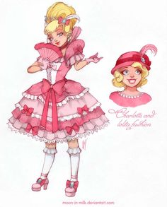 Charlotte and lolita fashion. I wanted to dress her in the lace-monster-dress, I think that's very suitable for her Charlotte and lolita fashion Cute Disney, Disney Dream, Disney Style, Disney Disney, Disney Cosplay, Disney Fan Art, Disney Animation, Disney E Dreamworks, Disney Mode