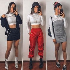 Cute Casual Outfits, Edgy Outfits, Retro Outfits, Grunge Outfits, Simple Outfits, Rock Outfits, Teen Fashion Outfits, Look Fashion, Outfits For Teens