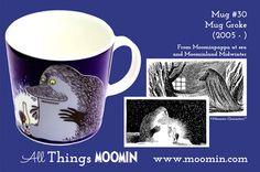 Moomin mug Groke by Arabia - Moomin Moomin Mugs, Tove Jansson, Tableware, Moomin Valley, Trays, Cups, Songs, History, Dinnerware
