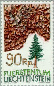 Sello: Trees (Liechtenstein) (Trees) Mi:LI 914,Yt:LI 855,Zum:LI 854