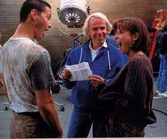 "goofing around with Sandra on the ""Speed"" set"