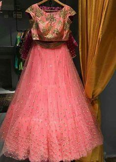 Our new favourite coming soon on. Half Saree Lehenga, Indian Lehenga, Sari, Kids Lehenga, Bridal Lehenga, Half Saree Designs, Lehenga Designs, Blouse Designs, Lengha Design